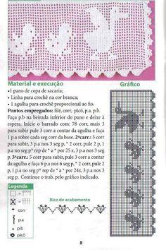 crochet - filet edgings - barrados / bicos filet - Raissa Tavares - Picasa Web Album