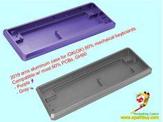 Custom aluminum keyboard case for iGK(GK) mechaical keyboards,compatible with most PCBs, - 2019 arris metal case, shop online website. Diy Mechanical Keyboard, Purple Grey, Aluminium Alloy, Usb, Metal, Purple Gray