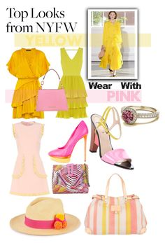 """""""Yellow & Pink : Nyfw 2016"""" by charisloves ❤ liked on Polyvore featuring Creatures of Comfort, Marissa Webb, Oasis, Fendi, Liebeskind, RED Valentino, Kenzo, B Brian Atwood and Prymal"""