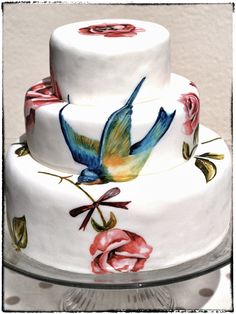 Tattooed cake.. by Murryme Hand Painted Cakes .. @Melissa Squires McConnell Murray www.murrayme.co.uk