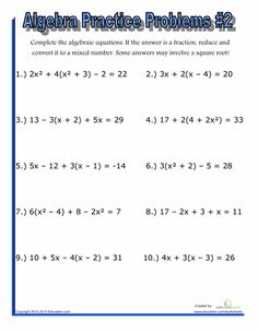 Printables Algebra 2 Practice Worksheets halloween algebra 2 and middle school on pinterest worksheets practice problems 2