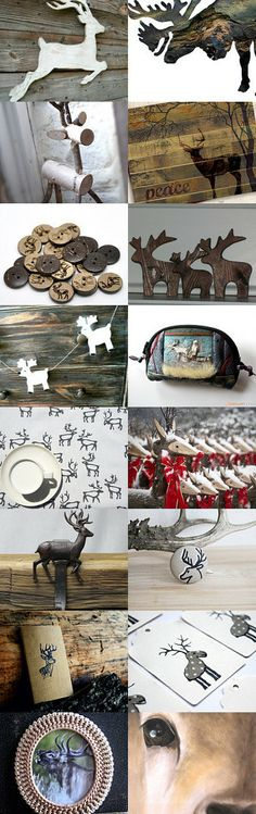 Silver Christmas Deer by Vineta on Etsy--Pinned with TreasuryPin.com