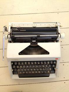 Vintage White Typewriter