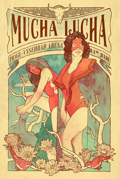 Mucha Lucha Mexican wrestling poster