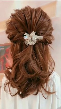 The Effective Pictures We Offer You About junior bridesmaid hair straight A quality picture can tell Black Wedding Hairstyles, Flower Girl Hairstyles, Bride Hairstyles, Cool Hairstyles, Romantic Wedding Hair, Long Hair Wedding Styles, Short Hair Styles, Medium Hair Styles, Bridesmaid Hair Straight