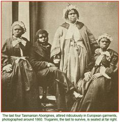 The last four Tasmanian Aborigines, photographed ca 1860. How is this…