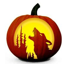 Halloween Howling Wolf Stencil - Free Pumpkin Carving Stencil/Pattern - Real Time - Diet, Exercise, Fitness, Finance You for Healthy articles ideas Pumpkin Carving Templates Free, Minion Pumpkin Carving, Scary Pumpkin Carving Patterns, Awesome Pumpkin Carvings, Disney Pumpkin Carving, Halloween Pumpkin Carving Stencils, Pumpkin Carving Party, Halloween Pumpkins, Pumpkin Painting