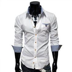 White check pocket shirt
