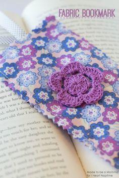 Fabric Bookmark on iheartnaptime.com