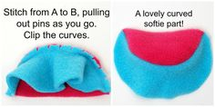 pinning properly for stitching curves in softies.