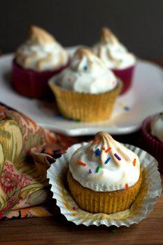 Sweet Potato Cupcakes with Toasted Marshmallow