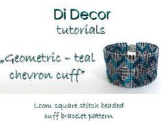 Seed Bead Loom Square Stitch Bracelet Pattern Toho by DiDecor