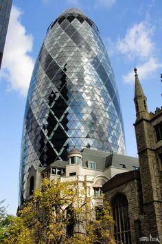 Gherkin  #London #Gherkin #architecture #skyscrapers