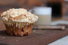 Oatmeal Raspberry Applesauce Muffins | Further Food