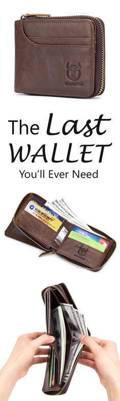 Bullcaptain Zip Around Wallet RFID Blocking Secure Leather Card Holder Wallet for Men Gifts For Inlaws, New Daddy Gifts, Christmas Gifts For Mum, Christmas Bags, Christmas Treats, Light Up Hoodie, Easy Handmade Gifts, Tennis Gifts, Sexy Gifts