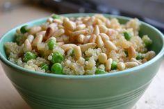 Lemon quinoa with peas