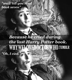 The Doctor is a Potterhead. Yes. Just yes.