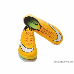 Nike Mercurial Victory V TF Yellow White Green $61.99