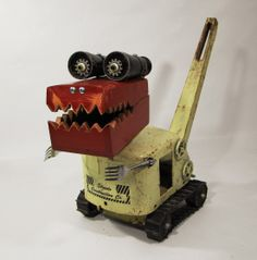 Found Object Dragon by Bill McKenney Bills Retro Robots