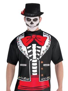 Day of the Dead T-Shirt -  Adult Costume front