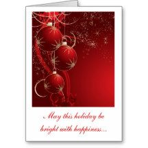 Dazzling Tree Trimmings, Greeting Card
