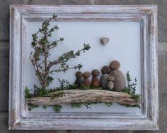 Pebble Art Family / Rock Art Family family of five in an