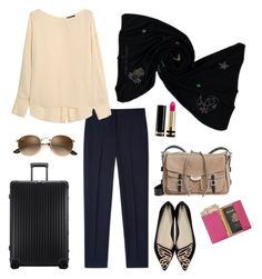 """""""HAPPY TRAVELS"""" by cashmererebeluk on Polyvore featuring Rimowa, Paul Smith, Theory, Sophia Webster, Royce Leather, Gucci, rag & bone, happy, travel and essentials"""