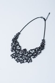 Laser cut baroque necklace from theblushinc.com