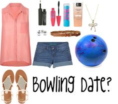"""Bowling group date?"" by aj-kay ❤ liked on Polyvore"