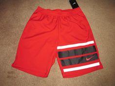 "Nike 9"" Court Graphic Mens Tennis Shorts S University Red Stripe 729264 657 #Nike #Shorts"