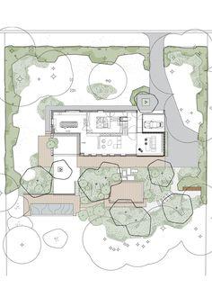 tuinarchitect_steyaert_brussel_bos_holsbeek_plan - New Sites Landscape Architecture Model, Architecture Portfolio Layout, Architecture Drawing Plan, Architecture Drawing Sketchbooks, Water Architecture, Conceptual Architecture, Landscape Design Plans, Architecture Wallpaper, Architecture Collage