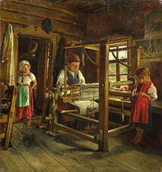 В. Маковский «Ткачиха с внучками» 1886
