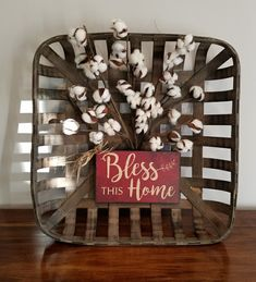 An easy creation. I used 24 gauge wire sticks for placement and found the sign a. An easy creation. I used 24 gauge wire sticks for placement and found the sign at Hobby Lobby. Iam excited to hang it up. Prim Decor, Country Decor, Rustic Decor, Farmhouse Decor, Farmhouse Ideas, Country Farmhouse, Country Crafts, Primitive Country, Country Living