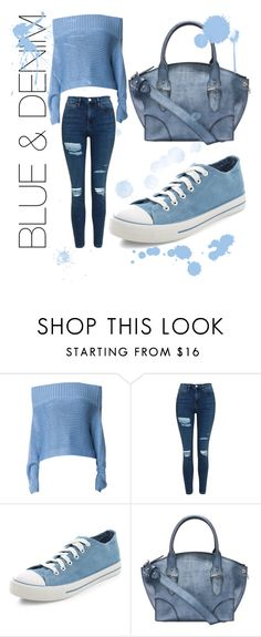 """""""DENIM DREAM"""" by rxs3s ❤ liked on Polyvore featuring TIBI, Topshop, New Look and Alexander McQueen"""