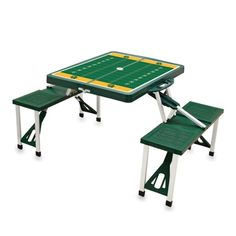 Baylor Bears foldable picnic table // This is so perfect for tailgating, to lay out food on or have extra seating! It can even be folded up for easy transportation.