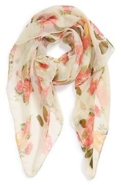 Main Image - David & Young Floral Woven Scarf (Juniors)