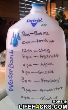 To make sure you stay hydrated - #LifeHack, #LifeTip, #Water