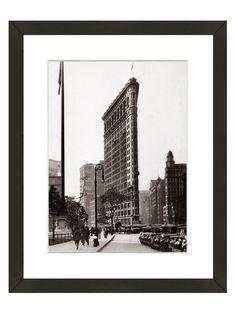 Flatiron Building Circa 1920 (Framed Giclee) by Art Source at Gilt