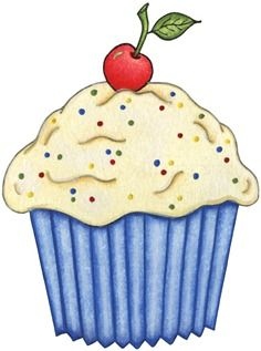 decoupage Cupcake clipart images