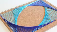 Looking for an engaging way to slip in a little math at home with the kids? How about making a beautiful piece of string art like the one above? String art is instantly captivating to kids because of the inherent … High School Art, Middle School Art, Nail String Art, String Art Patterns, Math Art, Thread Art, Paper Embroidery, Art Club, Elementary Art