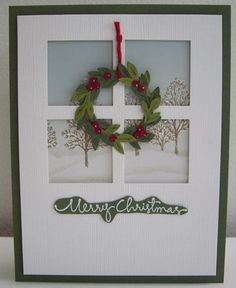 "Have ""door"" precut cards, use the wreath idea"
