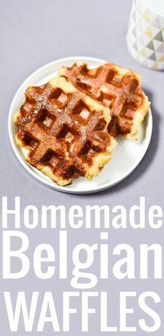 Gaufres de liege belgian all things belgium pinterest an easy recipe to make belgian waffles in the artisanal style of lige caramelized forumfinder Choice Image