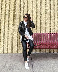 Happy day in black&white!❤️ ------ Dia feliz! #ootd (Mamis foi a fotógrafa do look e não parava de me fazer rir haha)