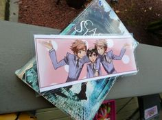 From the show Ouran High School Host Club, featuring the Hitachiin twins and Haruhi