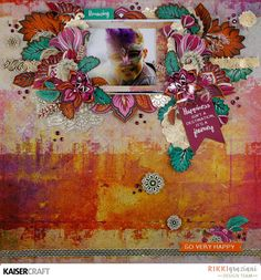Just too Obsessed: Bombay Sunset with Kaisercraft Cardmaking And Papercraft, Baby Scrapbook, Scrapbooking Layouts, Paper Crafts, Antiquities, Sunset, Creative, Projects, Mixed Media