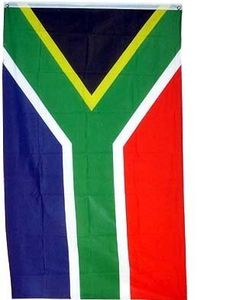 New Large 3x5 South African Flag National African Flags by SHOPZEUS. $4.85. Durable Polyester Material. Made To United Nations Specs. 3 x 5 ft Polyester flag with 2 brass grommets.  These polyester flags not recommended for prolonged outdoor use. For outdoor use, we recommend our nylon flags. This flag is double sided.. Save 76% Off!