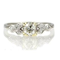 New York, NY Jewelry, engagement rings - Leigh Jay Nacht - Circa 1930s Engagement Ring - VR0414-01
