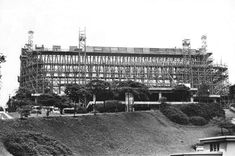 Vista da construção do Museu de Arte de São Paulo (Masp), na avenida Paulista, em 1964 Foto: Acervo/Estadão