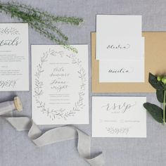 Luxury letterpress wedding invitations with matching details, RSVP card and envelopes. Includes bespoke designed calligraphy for the main names on the invitation, which is designed by hand and then digitised for print. The stationery is printed on luxury 450gsm soft white cotton card. Once you have placed your order I will email you to discuss …