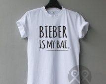 BIEBER is my Bae, Justin Bieber Shirts, band shirts, concert tees, unisex t shirt